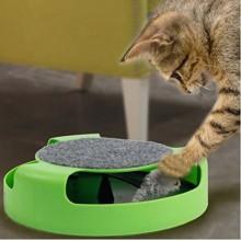 Игрушка мышка для кошки с когтеточкой Fine Pet