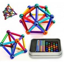 Магнитный конструктор палочки и шарики NeoCube Игрушка антистресс головоломка неокуб цветной DS-25