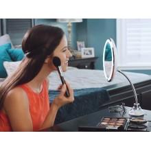 Гибкое зеркало с подсветкой на гибком держателе flexible увеличивающее зеркало для макияжа на присоске SD-97