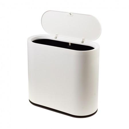 Мусорное ведро с крышкой 10л Supretto контейнер мусорное ведро узкое в туалет компактное DS-75
