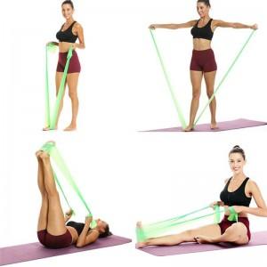 Лента эластичная для фитнеса и йоги Supretto лента латексная для фитнеса эспандер для растяжки мышц, Салатовый