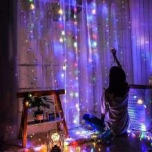 Гирлянда на новый год LED Светодиодная на 300 лампочек на стену окно или елку 6,5 м S-7
