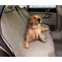 Автогамак для собак PetZoom Накидка на сиденье автомобиля для перевозки собак (влагостойкая) бежевая GFDS-147