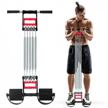 Пружинный эспандер для рук и ног и груди, тренажер эспандер многофункциональный 3 в1 для всех групп мышц FS-37