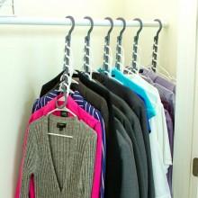 Вешалка для одежды складная в шкаф Wonder Hanger Max 6728 набор унивкрсально-современных вешалок 10 в 1