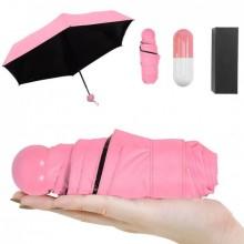 Мини зонт капсула женский складной в футляре 6752