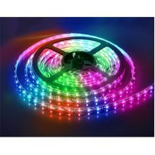 Светодиодная лента LED 5м на 12в SMD 3528 RGB с пультом и блоком питания Угол свечения 120°