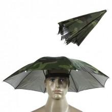 Зонтик на голову от дождя Kronos зонт шляпа на голову складной для рыбалки туризма 52 см (CBT190035C)