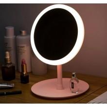 Настольное зеркало с подсветкой LED для макияжа круглое (W8)