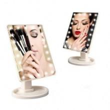 Зеркало с подсветкой для макияжа сенсорное H0170 настольное косметическое с подставкой