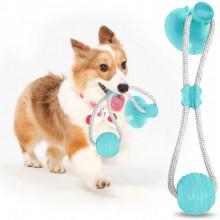 Игрушка на присоске для собак многофункциональная игрушка для собак Dog Toy мяч на присоске F-43