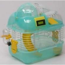 Клетка для грызунов и хомяков пластиковая Золотая клетка М01 с счетчиком (7722211554)