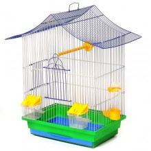 Клетка для волнистых попугаев Лори Мини 3 из цинка 330х230х470 мм (D-544432)