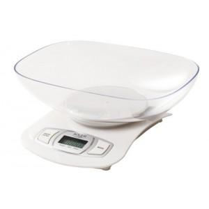 Весы кухонные с чашей Adler AD 3137 white (76447)