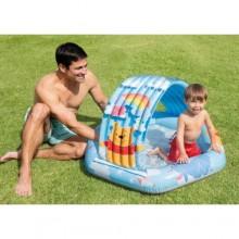 Детский надувной бассейн с крышей Intex 58415 NP от года до 3 лет на 41 литр с надувным дном (74733)