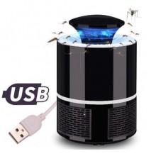 Ловушка для комаров Mosquito Killer Lamp уничтожитель насекомых USB Лампа светодиодная Черная  FG-55
