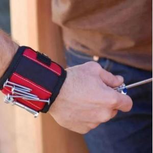 Магнитный браслет на руку для саморезов строительный Magnetic Wristband SWD-77