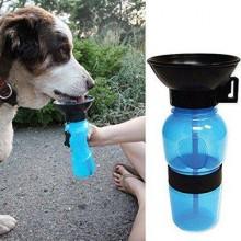 Поилка для собак дорожная переносная Aqua Dog 537 мл портативная бутылка для крупных и мелких собак Голубая FS-97