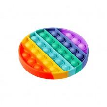 Игрушка антистресс вечная пупырка радужная Pop It сенсорная игрушка антистресс для детей и взрослых из силикона круглая FD-27