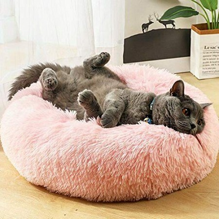 Лежанка для кошек и собак 40 см Розовый Maipets Подушка-Лежак для собак и кошек  (спальные места) кровать для домашних животных мягкая