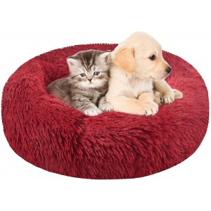 Лежанка для собак и кошек 90 см бордо Maipets Подушка-Лежак для кошек и собак (спальные места) кровать для домашних животных мягкая