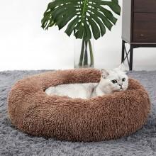Лежак для кошек и собак 90 см коричневый Maipets Подушка-Лежанка для собак и кошек (спальные места) кровать для домашних животных мягкая