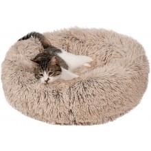 Лежак для кошек и собак 50 см светло бежевый Maipets Подушка-Лежанка для собак и кошек (спальные места) кровать для домашних животных мягкая