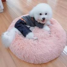 Лежак для собак и кошек 50 см Розовый Maipets Подушка-Лежанка для кошек и собак (спальные места) кровать для домашних животных мягкая