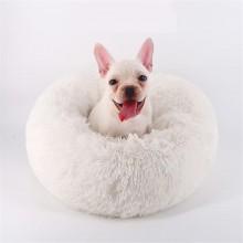 Лежак для собак и кошек 40 см Бело-молочный  Maipets Подушка-Лежанка для кошек и собак  (спальные места) кровать для домашних животных