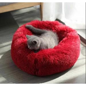 Лежак для собак и кошек 40 см Бордо Maipets Подушка-Лежанка для кошек и собак  (спальные места) кровать для домашних животных