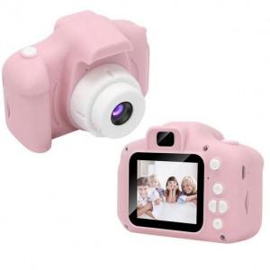 Детский цифровой фотоаппарат Kids Camera GM14 с записью видео и с играми Розовый GGS-77