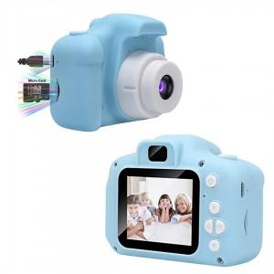 Детский цифровой фотоаппарат Kids Camera GM14 с записью видео и с играми Синий GGS-77