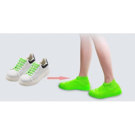 Бахилы многоразовые водонепроницаемые силиконовые чехлы для обуви размер S 34-38 AS-77