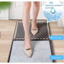 Коврик грязезащитный резиновый для дезинфекции обуви Elite 450 x 450 мм (EL-1209) Антибактериальный коврик для пола в прихожую влаговпитывающий