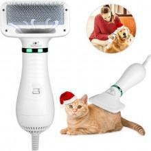 Фен для собак и кошек щетка PET Grooming Dryer Расческа для шерсти и груминга животных 2В1 LLD-75