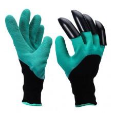 Перчатки с когтями Садовые Garden Genie Gloves с пластиковыми наконечниками (62324189)