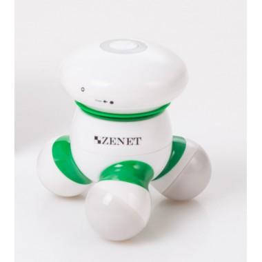 Массажер антицеллюлитный для тела ручной Zenet Zet-707 для расслабления спины, шеи, плеч, рук и ног Белый (00355)