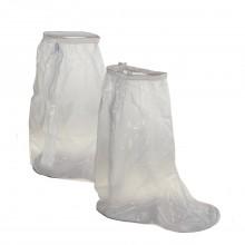 Бахилы высокие многоразовые и водонепроницаемые для обуви от дождя и снега из ПВХ на замке и молнии прозрачные чехлы для обуви  43-46 размер